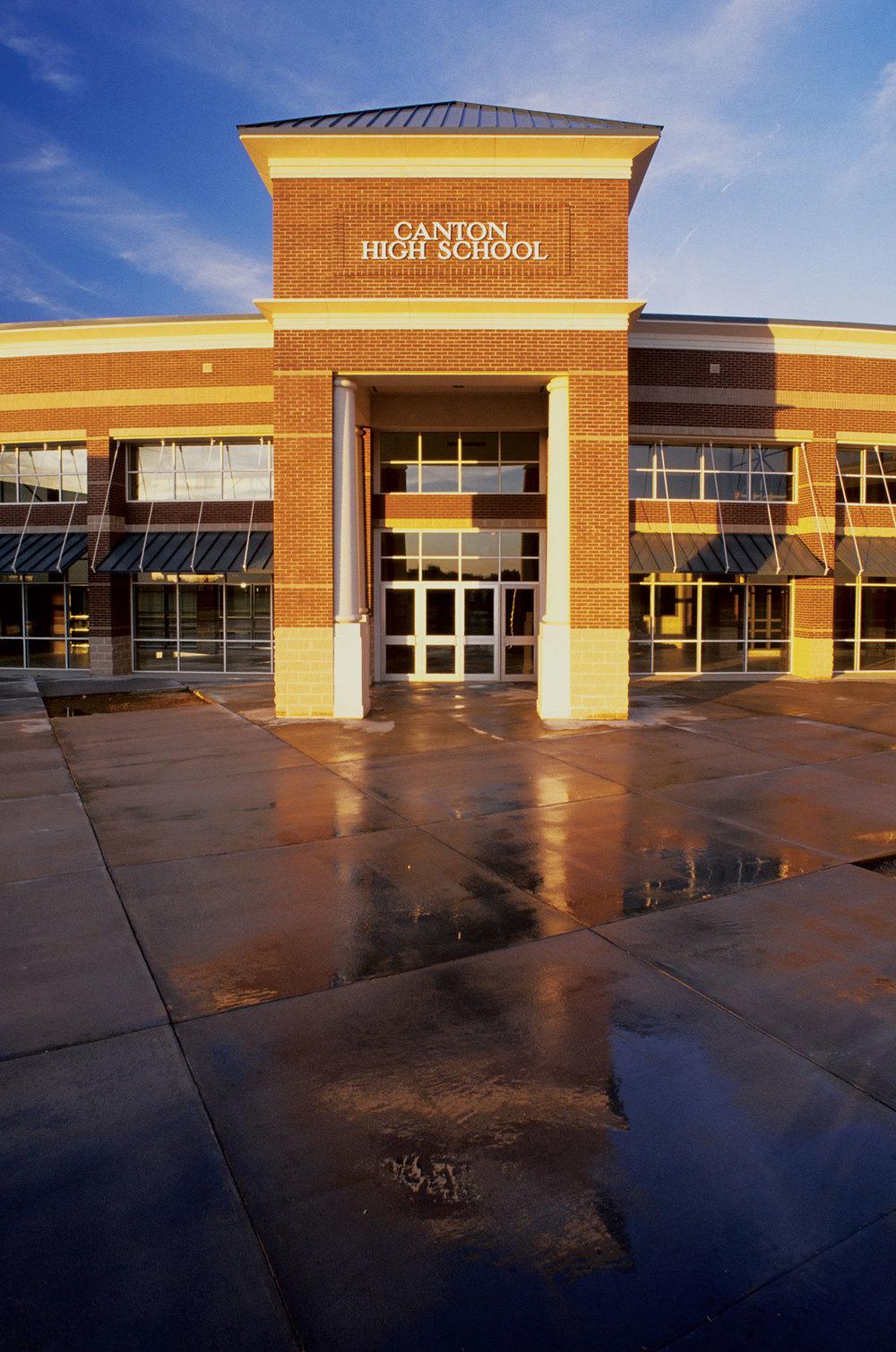 canton high school jbhm architecture